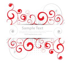 Vector Floral Banner Design