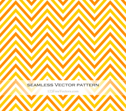 Orange and Yellow Chevron Seamless Pattern