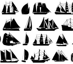 Free Sailboat Silhouettes Vector Art