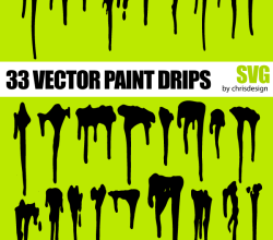 Free Paint Drips Vector Art