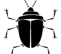 Vector Bug Silhouette