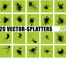 Vector Splatters SVG