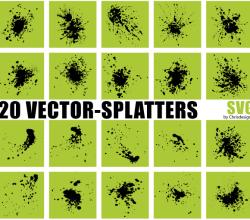 Vector Splatters SVG