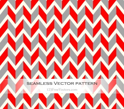 Red and Grey Vintage Chevron Pattern