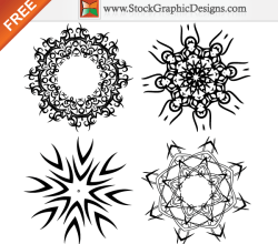 Beautiful Design Elements Free Vector Set