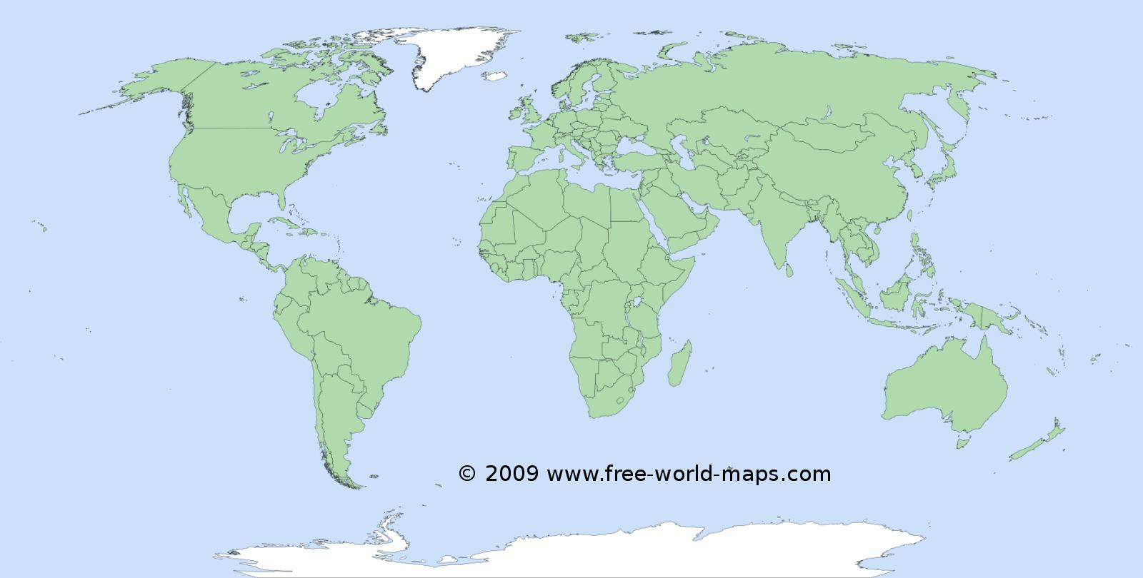 Gak Ngiro Rame Free World Map
