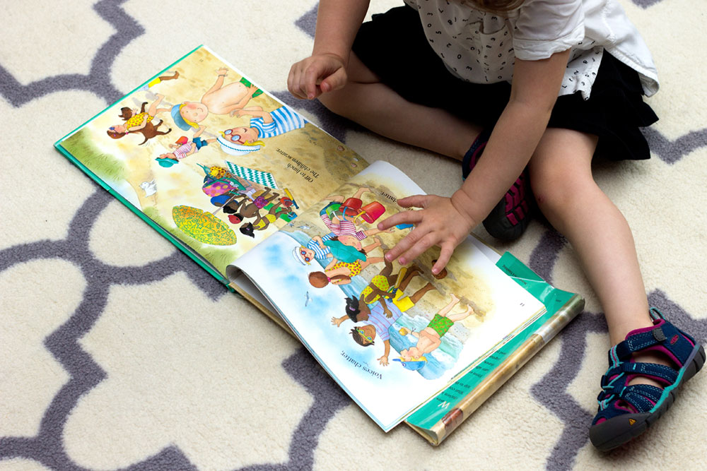Beach Day is a great Montessori-friendly seek-and-find book for young toddlers.