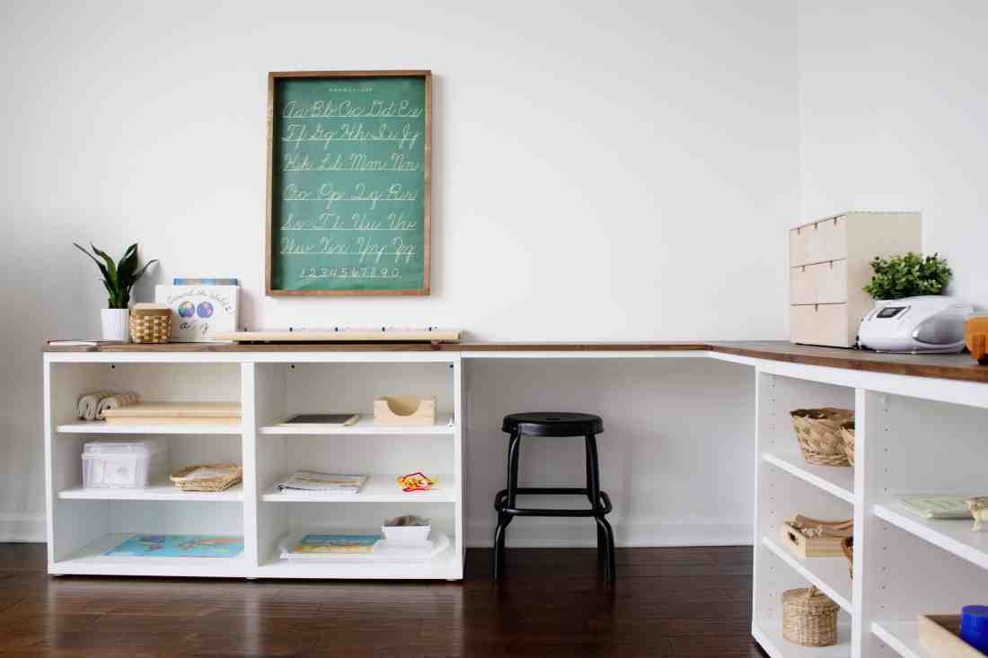 create a corner desktop with IKEA BESTA frames