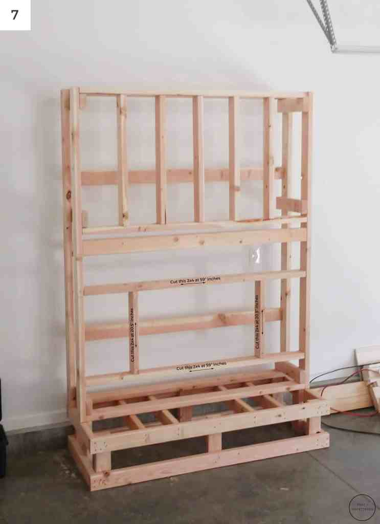 how to build the frame to which the electric fireplace will be mounted