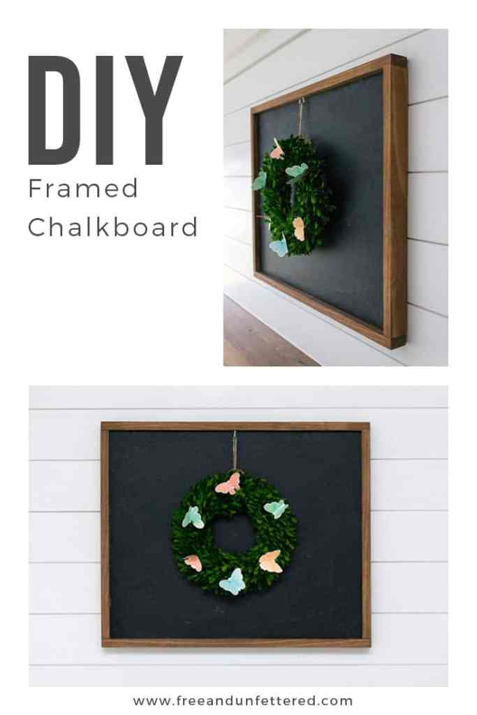 DIY: Framed Chalkboard. Learn how to easily build a framed chalkboard. It's the perfect minimalist seasonal home decor item.