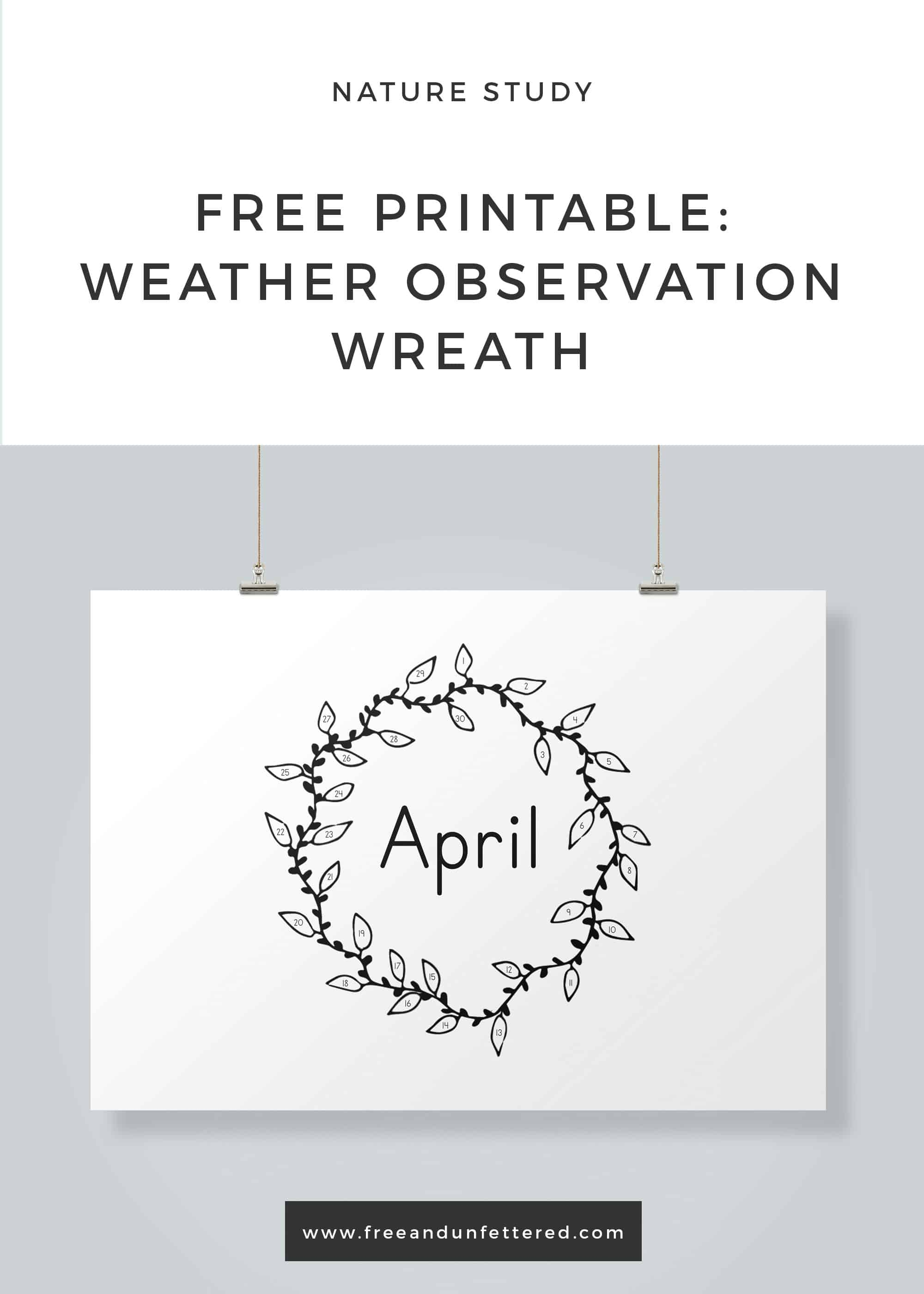 photograph about Printable Weather referred to as Cost-free Printable: Climate Observation Wreath