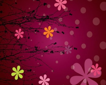 Abstract Snowflakes and Floral