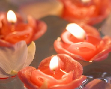 Candles In The Petals