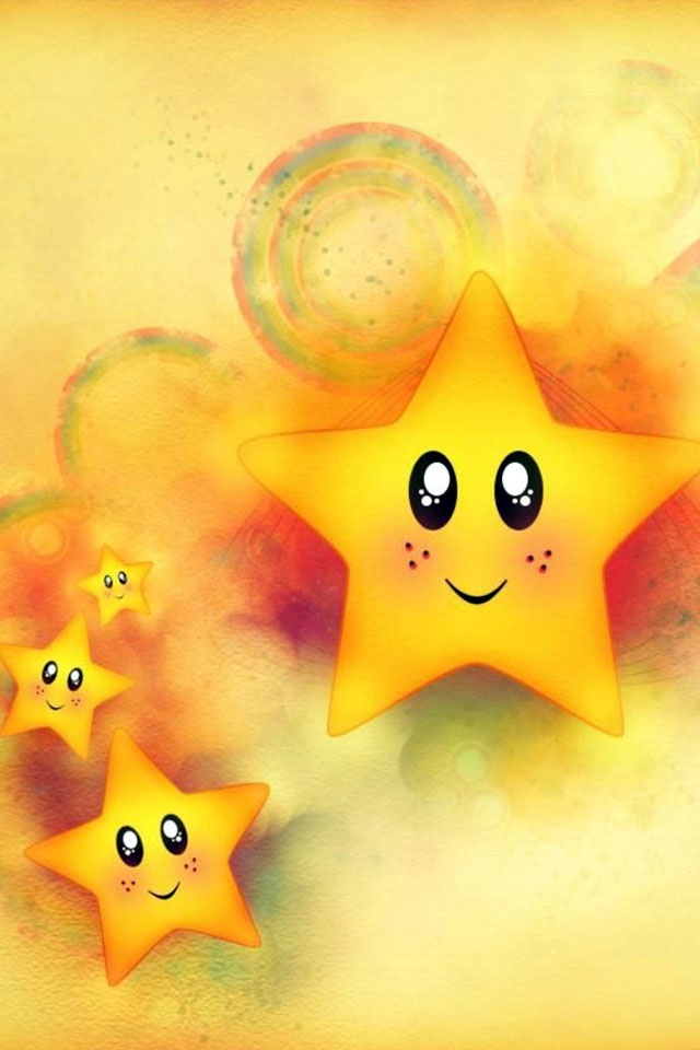 Cute Cartoon Stars iPhone 6 / 6 Plus and iPhone 5/4 Wallpapers