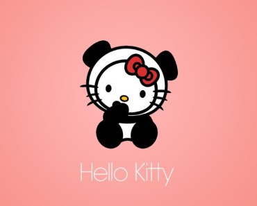Cute Hello Kitty With Pink Background