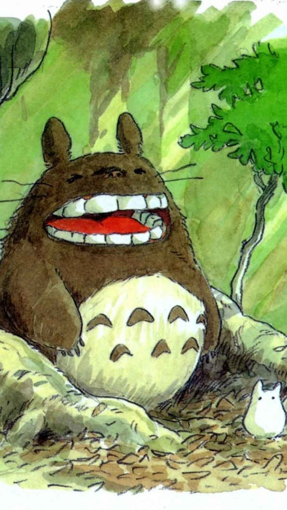 Totoro Wallpaper Iphone 6 Hand Drawn Totoro Wallpaper Free Iphone Wallpapers