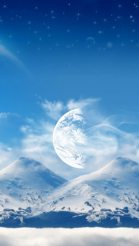Iphone 5 Wallpaper Floral Snow Mountain And Moon Iphone 6 6 Plus And Iphone 5 4
