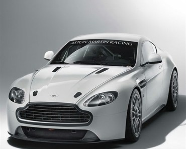 White Aston Martin Racing Car
