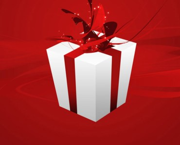 White Gift Box With Red Ribbons