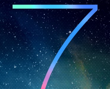 iOS 7 Logo With Galaxy Background