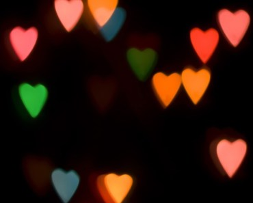 Blurred Lover Hearts