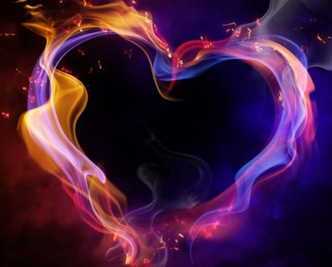 Colorful Love Heart Of Smoke