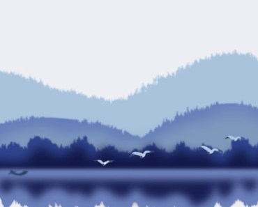 Hand Drawn Birds Of The Mountains