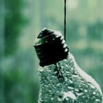 Light Bulb With Water Drops