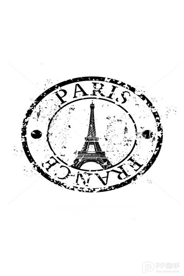 Paris France Postmark iPhone 6 / 6 Plus and iPhone 5/4