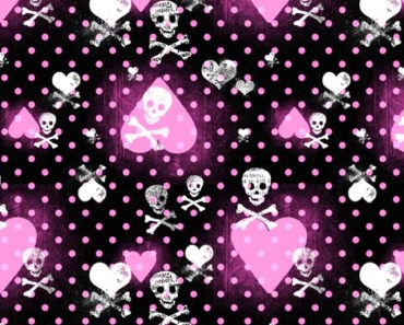 Pink Heart and Skull Patterns