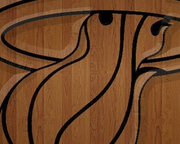 Wood Miami Heat Logo