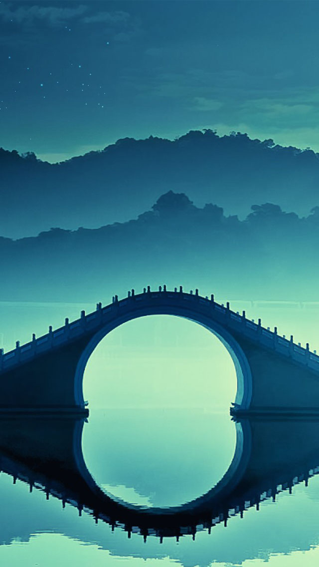 Watercolor Quotes Wallpaper Chinese Arch Bridge Art Wallpaper Free Iphone Wallpapers