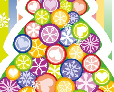 Colored Christmas Tree Of Flowers