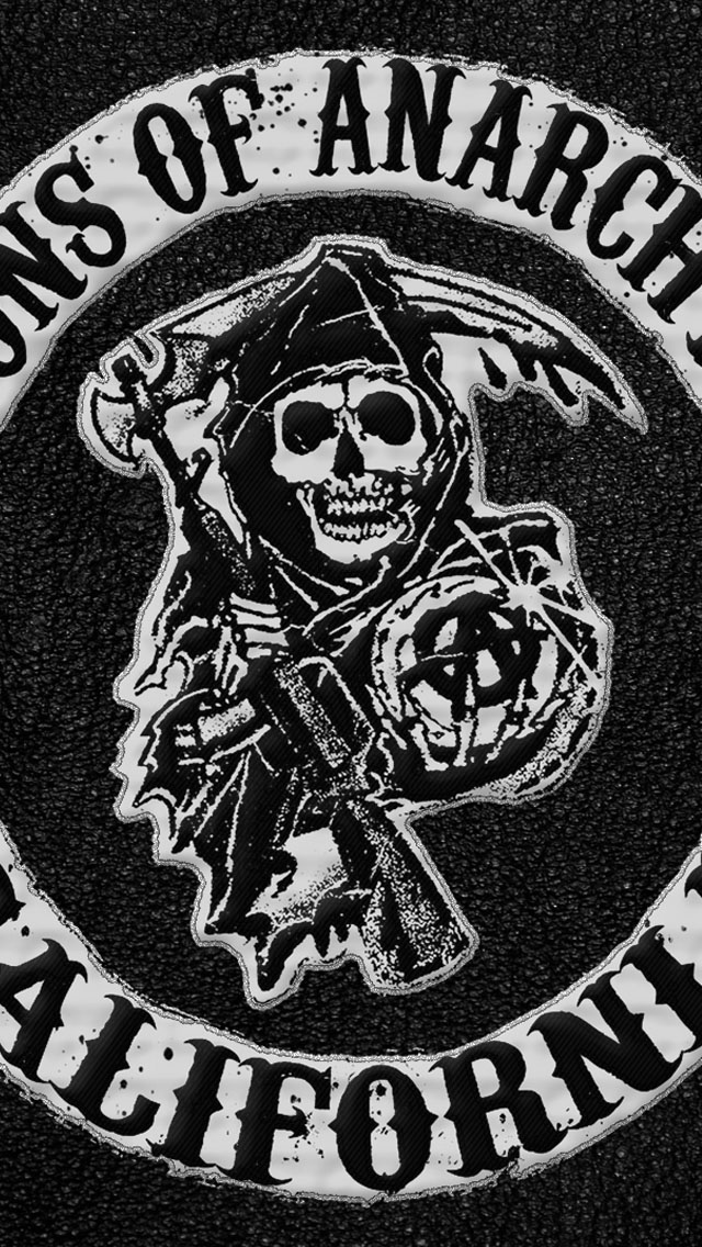 Sons of anarchy logo iphone 6 6 plus and iphone 5 4 - Soa wallpaper iphone ...