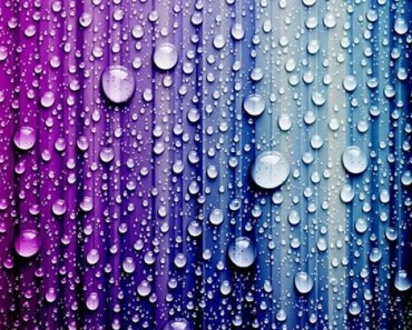 Water Drops with Colorful Stripes Background