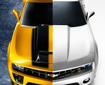 Yellow and White Chevrolet Camaro