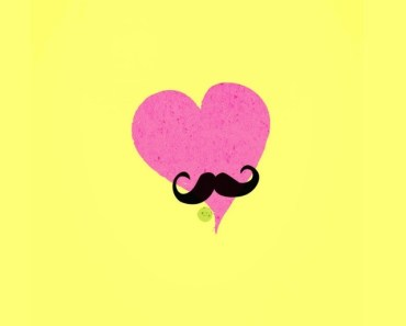 Pink Heart with Mustache