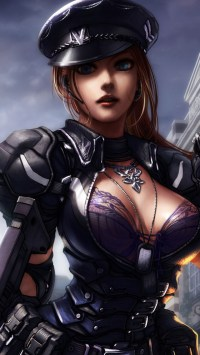 Sexy Girl In Game Zombie