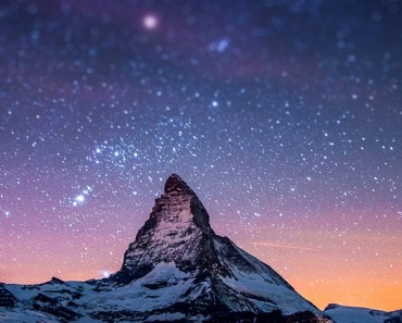 Snow Mountain & Starry Sky