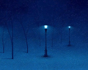Streetlight In The Snow