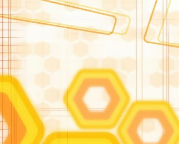 Yellow Abstract Hexagons