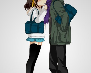 Anime Lovers Kissing