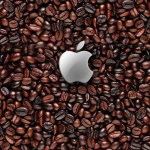 Apple Logo In the coffee beans