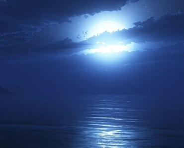 Bright Moon Over The Sea