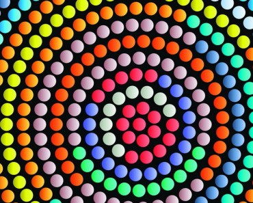 Colorful Abstract Centrifugal Dots