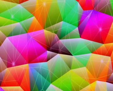 Colorful Linked Crystals