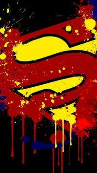 Paint Splash Superman Logo