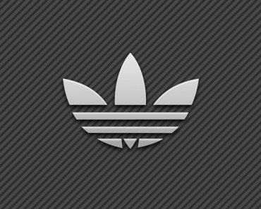 White Adidas Logo With Stripe Background