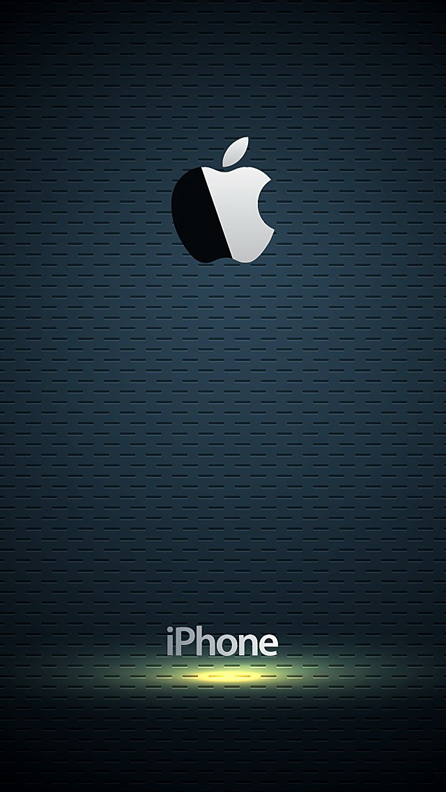 glossy apple logo with