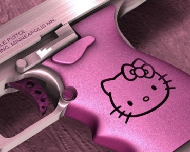 Hello Kitty Desert Eagle Gun